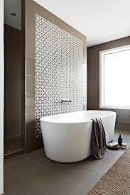 bathroom feature wall ideas aspire home ensuite with walk through shower freestanding bath