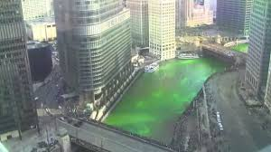 2015 dyeing the chicago river green for st patricks day time