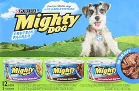 mighty dog variety pack hearty pulled style chicken dinner