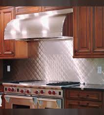 Bright Quilt Stainless Steel Backsplashes From QuickShipMetalscom - Stainless steel backsplash