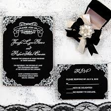 wedding invitations 1 classic black and white chalkboard uv printing wedding invitation