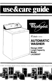 whirlpool washer la3300xp user guide manualsonline com
