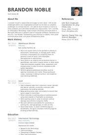 Warehouse Supervisor Resume Samples Resume For Warehouse Associate Lukex Co