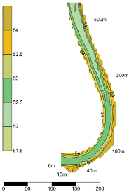 Elevation Map Of Florida by Contour Map Of The Managed Wetland Legend Numbers High Light