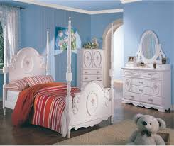 Girls Striped Bedding by Fancy Blue Wall Paint Color Background With White Girls Bedroom