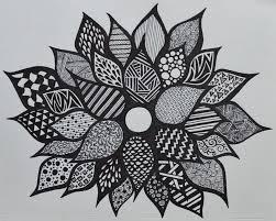 sharpie flower zentangle sf my marker art and doodles