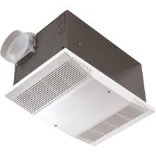 nutone 70 cfm ceiling exhaust fan with 1500 watt heater and wall