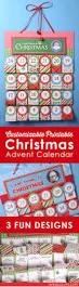personalized free printable christmas advent calendar