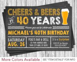 cheers and beers to 40 years birthday invitation u2022 30th 40th