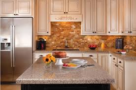 almond colored kitchen cabinets in newly remodeled kitchen