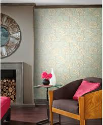 wallcoverings for less make a statement with bright modern floral