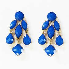 Chandelier Gold Earrings Chandelier Earrings Blue Statement Drop Earrings In Gold Tone By