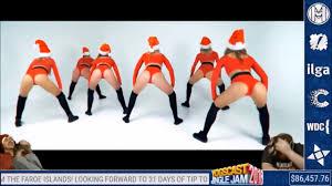 yogscast lewis and simon watch christmas twerk youtube