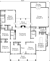 southern floor plans southern style house plan 4 beds 2 5 baths 1997 sq ft plan 406