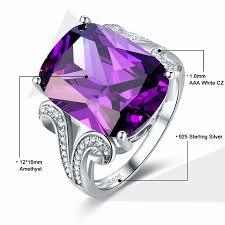 emerald amethyst rings images Jrose 100 925 sterling silver amethyst rings for women female jpg