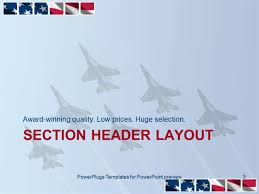 powerpoint template six air force thunderbirds in delta formation