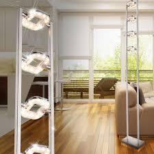 Esszimmer Lampe Schwenkbar Led Stehleuchte Mit Fußdimmer Und Verstellbaren Spots Lana Lampen