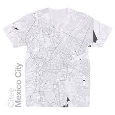 Mexico Cities Map by Citee Fashion Mexico City Map T Shirt