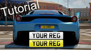Make Your Own Vanity Plate Forza Horizon 2 License Plates How To Add Plates To Your Car