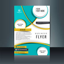 brochure templates for business free download business flyer template with circular shapes vector free download