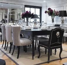 black and white dining room ideas elegant black dining table set the home redesign