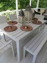 Patio Dining Set With Bench Falster Ikea I The Looks Of This Outdoor Dining Set Table