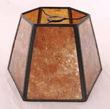 slip uno fitter l shade hexagon mica uno l shade amber silver 12 w floor l cabin
