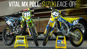 motocross mad vital mx poll suzuki rm z250 face off motocross feature stories