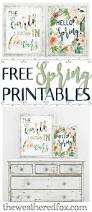 hello spring free printable the weathered fox
