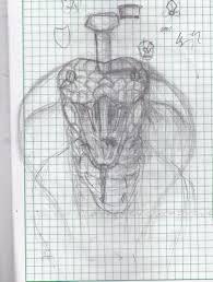 nailed king cobra sketch by cruzerblade1029 on deviantart