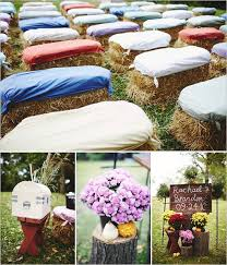 Casual Wedding Ideas Backyard Best 25 Hay Bail Wedding Ideas On Pinterest Hay Bale Seating
