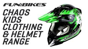 motocross gear chaos kids motocross clothing and helmets youtube