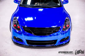 nissan altima coupe slammed nissan altima coupe in blue chrome phenomenalvinyl