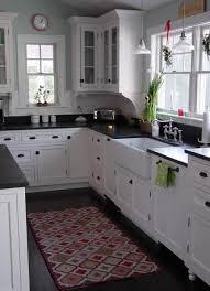 White Kitchen Cabinets With Black Granite Countertops Best 25 Black White Kitchens Ideas On Pinterest Grey Kitchen