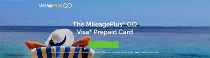 go prepaid card united s now offering a prepaid mileageplus go card