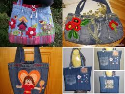 wonderful diy beautiful handbag from used jeans