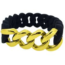 gold rubber bracelet images Gold cuban black rubber bracelet gold hip hop bracelets dxbrblackg jpg