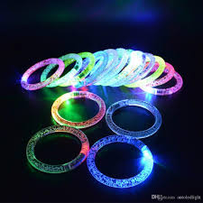 glow bracelets ful led flash glow bracelets acrylic light up wristbands