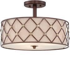 copper flush mount light elstead quoizel brown lattice medium pendant copper canyon qz