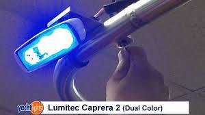 marine led spreader lights lumitec caprera 2 dual color led spreader light by yachtlights com