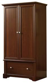 sauder palladia wardrobe armoire in cherry transitional by