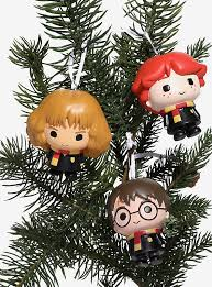 harry potter chibi harry hermione ornament set boxlunch