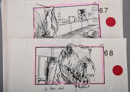 kitchen collectables store jurassic park early printed storyboards u2013 t rex attack and