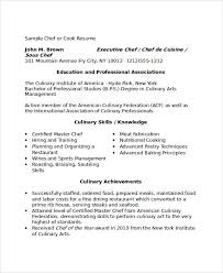 Executive Chef Resume Template Example Chef Resume Resume Example And Free Resume Maker