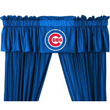 amazon com mlb valance mlb team chicago cubs home u0026 kitchen