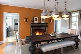 Burnt Orange Design Ideas - Burnt orange dining room