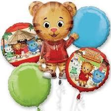 foil balloons anagram daniel tiger s neighborhood foil balloon bouquet 5