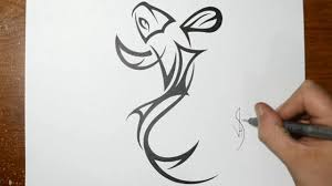 how to draw a tribal koi fish design