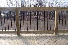 exterior ideas custom deck railing spindles and balusters 5 of the