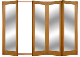 Wooden Bifold Patio Doors by Interior Interesting White Stained Wall With Dark Brown